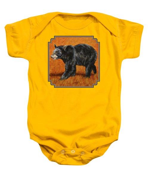 Autumn Black Bear Baby Onesie by Crista Forest