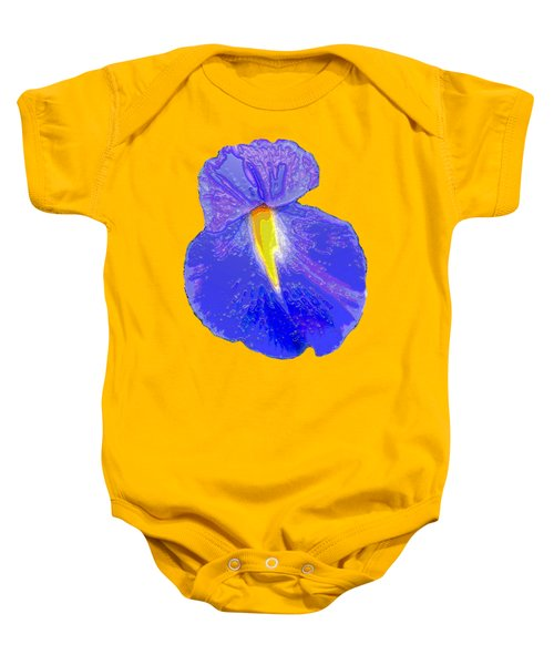 Big Mouth Iris Baby Onesie by Marian Bell