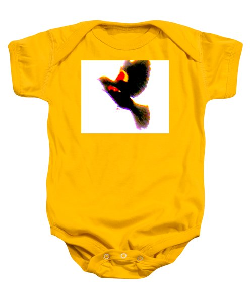 Blackbird Impressionism Baby Onesie by Veronica M Gabet