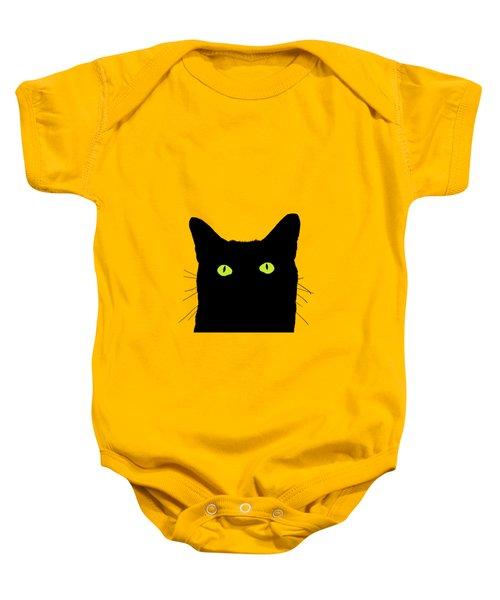 Cat Looking Up Baby Onesie by Garaga Designs