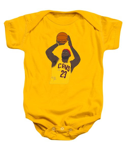 Cleveland Cavaliers - Lebron James - 2014 Baby Onesie by Troy Arthur Graphics