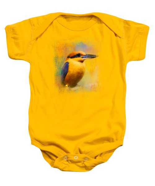 Colorful Expressions Kingfisher Baby Onesie by Jai Johnson