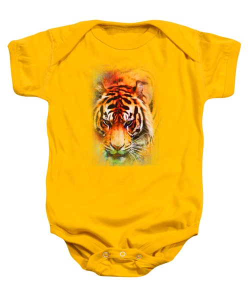 Colorful Expressions Tiger Baby Onesie by Jai Johnson