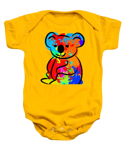 Colorful Koala Baby Onesie by Chris Butler