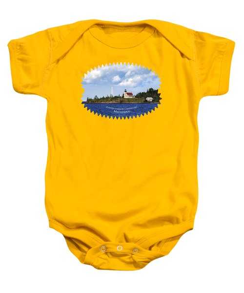Copper Harbor Lighthouse Baby Onesie by Christina Rollo