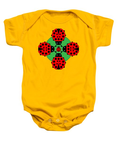 Five Lucky Ladybugs Baby Onesie by John Groves
