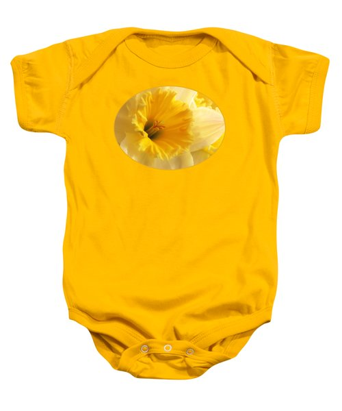 Focus On Spring - Daffodil Close Up Baby Onesie by Gill Billington