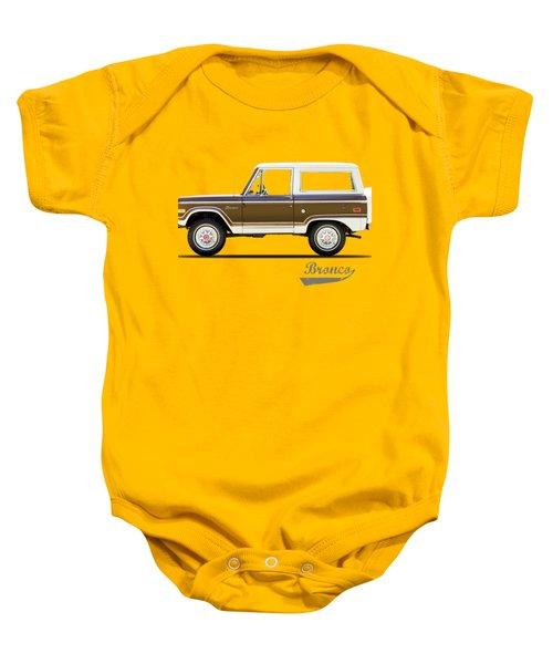 Ford Bronco Ranger 1976 Baby Onesie by Mark Rogan