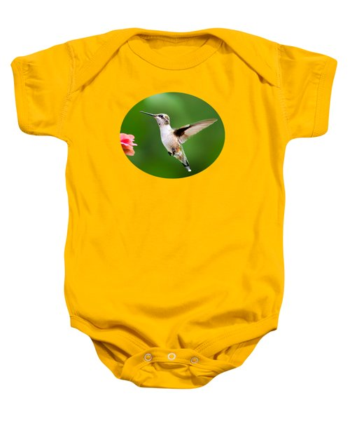 Free As A Bird Hummingbird Baby Onesie by Christina Rollo