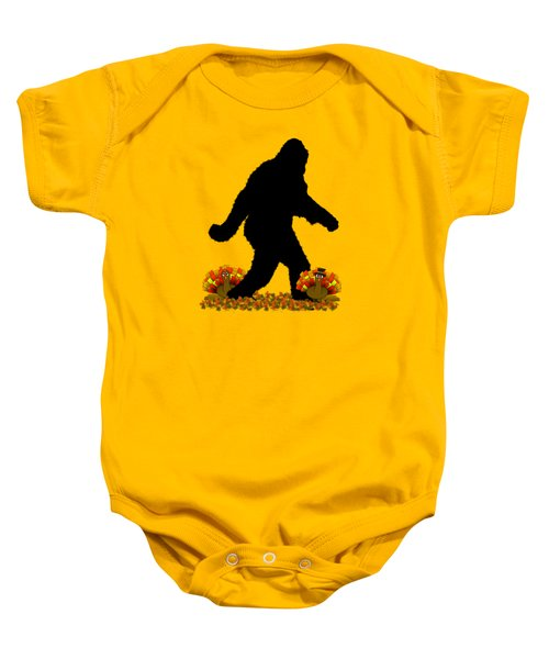 Gone Thanksgiving Squatchin' Baby Onesie by Gravityx9   Designs