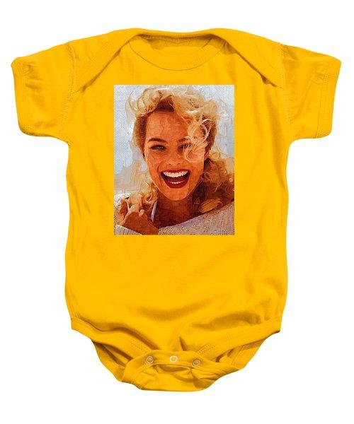 Hollywood Star Margot Robbie Baby Onesie by Best Actors