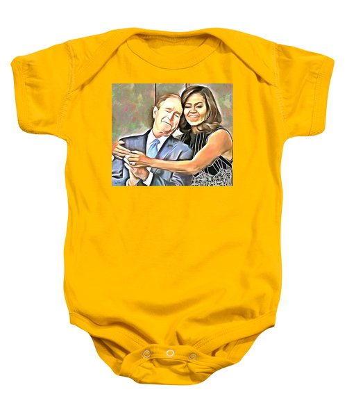 Imagine All The People Baby Onesie by Wayne Pascall