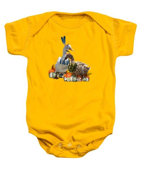 Indian Ducks Baby Onesie by Gravityx9 Designs