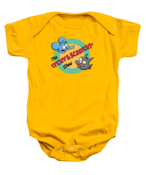 Itchy And Scratchy Baby Onesie by Ian  King