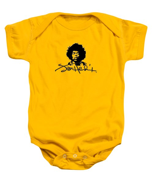Jimi Hendrix Purple Haze Baby Onesie by David Dehner