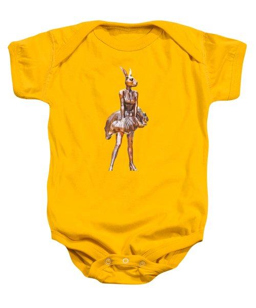 Kangaroo Marilyn Baby Onesie by Susan Vineyard
