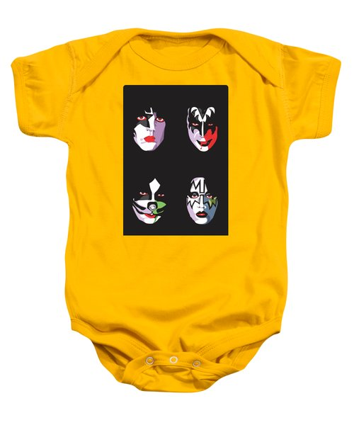 Kiss Baby Onesie by Troy Arthur Graphics