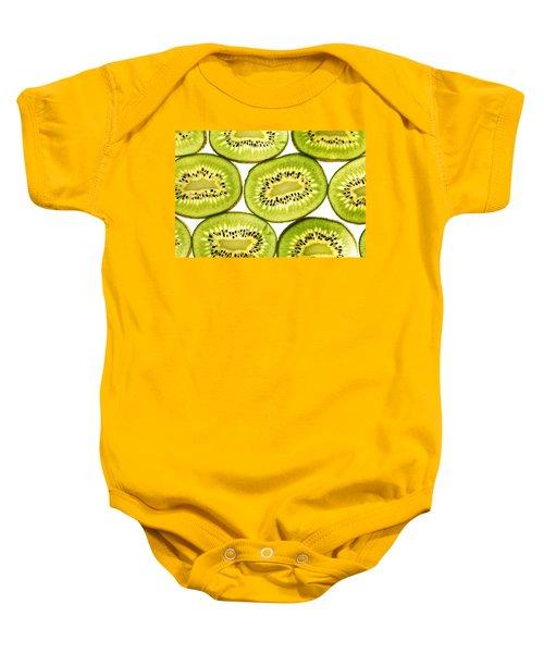 Kiwi Fruit II Baby Onesie by Paul Ge