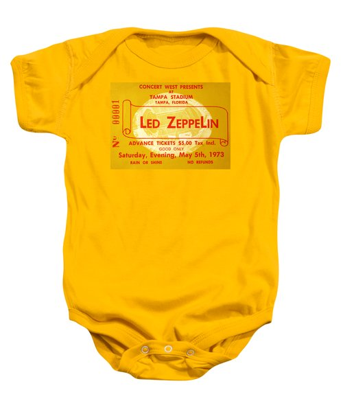 Led Zeppelin Ticket Baby Onesie by David Lee Thompson