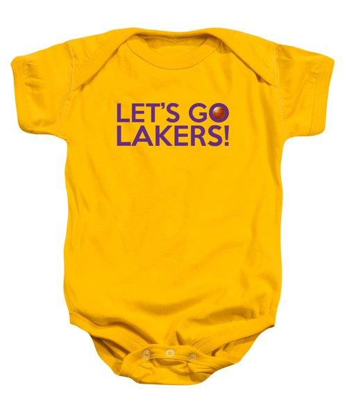Let's Go Lakers Baby Onesie by Florian Rodarte