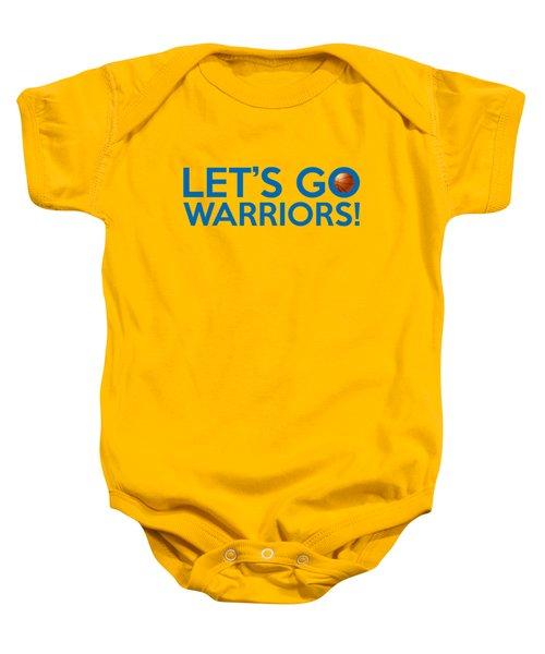 Let's Go Warriors Baby Onesie by Florian Rodarte