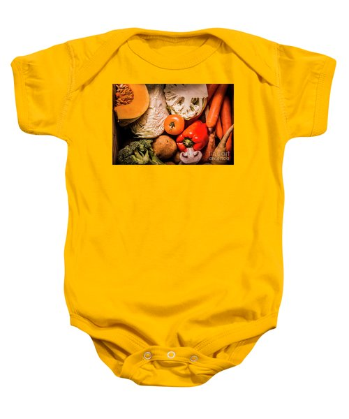 Mixed Vegetable Produce Pack Baby Onesie by Jorgo Photography - Wall Art Gallery