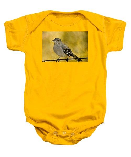 Northern Mockingbird Baby Onesie by Chris Lord