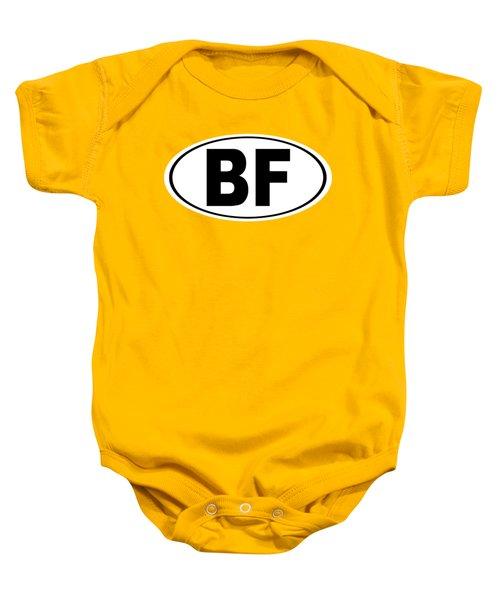 Oval Bf Beaver Falls Pennsylvania Home Pride Baby Onesie by Keith Webber Jr