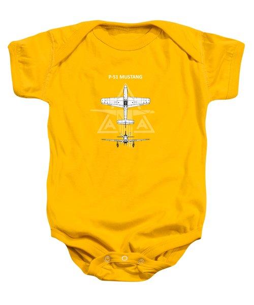 P-51 Mustang Baby Onesie by Mark Rogan