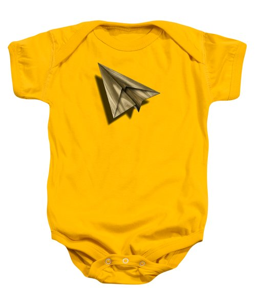 Paper Airplanes Of Wood 18 Baby Onesie by YoPedro