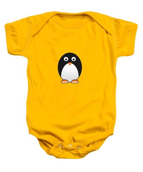 Penguin - Birds - Art For Kids Baby Onesie by Anastasiya Malakhova
