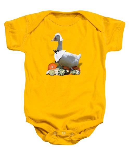 Pilgrim Duck Baby Onesie by Gravityx9 Designs