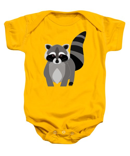 Raccoon Mischief Baby Onesie by Antique Images