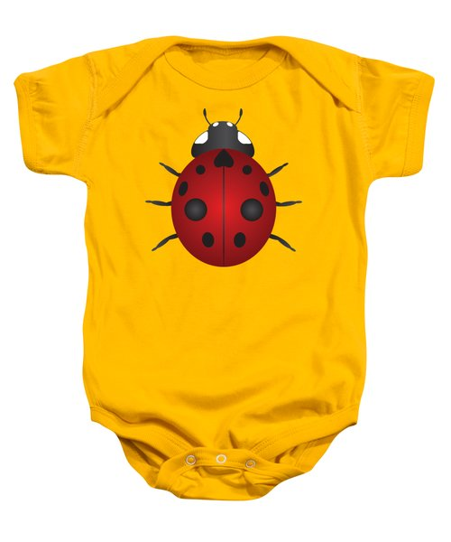 Red Ladybug Color Illustration Baby Onesie by Jit Lim