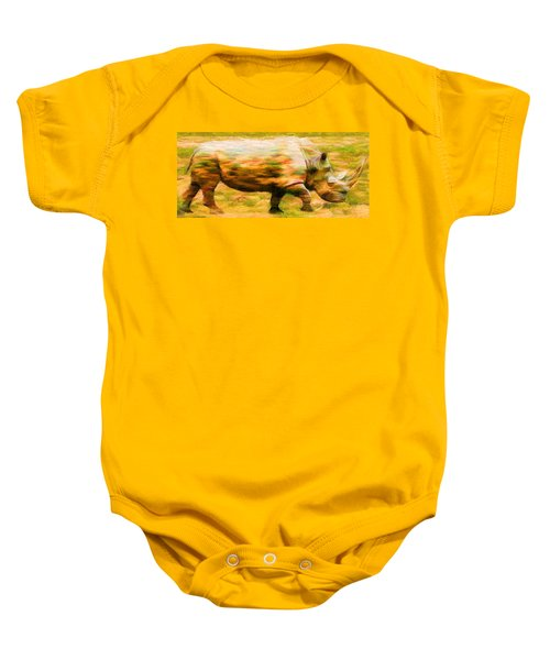 Rhinocerace Baby Onesie by Caito Junqueira
