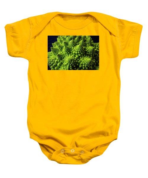 Romanesco Broccoli Baby Onesie by Garry Gay