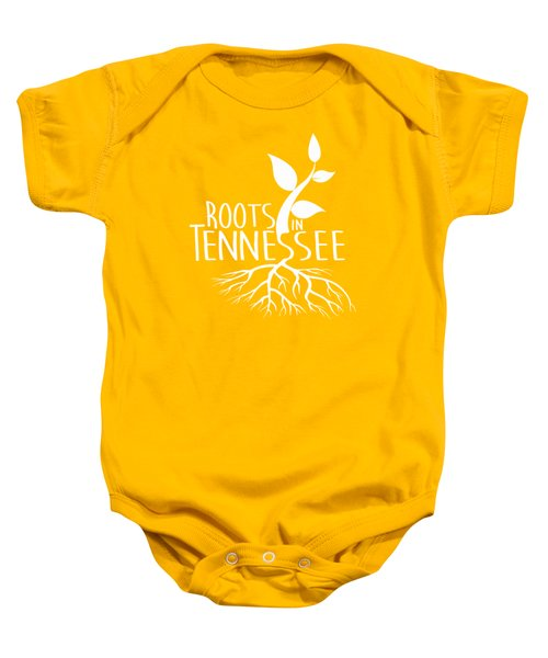 Roots In Tennessee Seedlin Baby Onesie by Heather Applegate