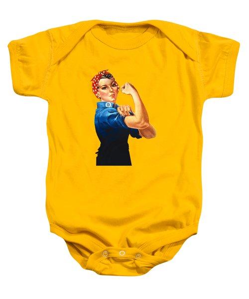 Rosie The Riveter Retro Style Baby Onesie by Garaga Designs