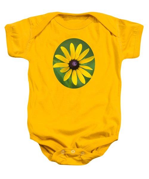 Rudbeckia Flower Baby Onesie by Christina Rollo