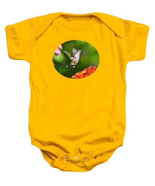 Shimmering Breeze Hummingbird Baby Onesie by Christina Rollo