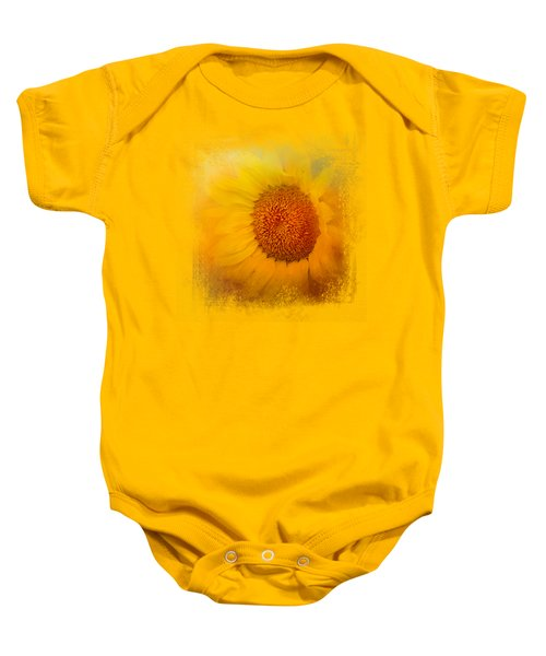 Sunflower Surprise Baby Onesie by Jai Johnson