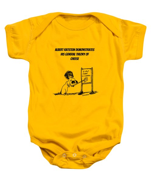 The General Theory Of Cheese Baby Onesie by Kim Gauge