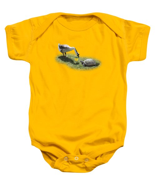 The Goose And The Turtle Baby Onesie by Gravityx9   Designs