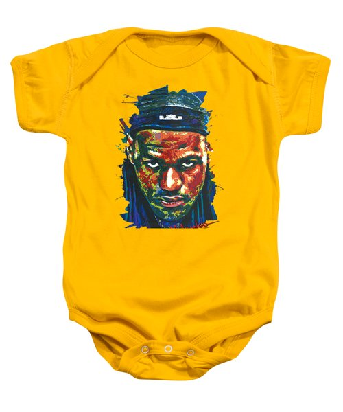 The Lebron Death Stare Baby Onesie by Maria Arango