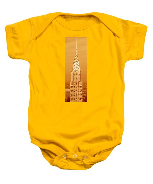 This Is A Sepiatone Close Baby Onesie by Panoramic Images