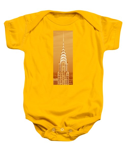 Chrysler Building At Sunset Baby Onesie by Panoramic Images
