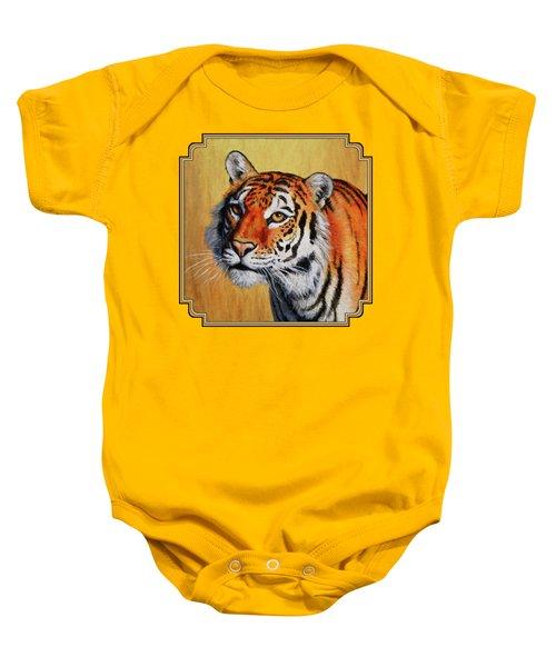 Tiger Portrait Baby Onesie by Crista Forest