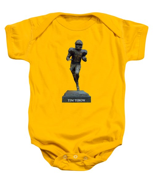 Tim Tebow Transparent For Customization Baby Onesie by D Hackett