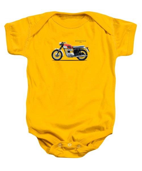 Triumph Bonneville 1966 Baby Onesie by Mark Rogan