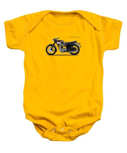 Triumph Bonneville 1968 Baby Onesie by Mark Rogan